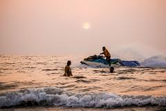 Sea The Sea (rajeshvengara) Tags: sea boat water sports rajeshvengara vengara kannur manorama goa bike race evening