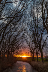 Sunrise (jan.vd.wolf) Tags: sunrise river countryside outside nature landscape sun tree water reflection mood sky atmosphere twilight