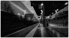 She caught the Katy (Parchman Kid (Jerry)) Tags: the commuter gensingen bahnhof train station tracks mono monochrome black white sony a6500 parchmankid jerry burchfield long exposure bwartaward shecaughtthekaty gensingenhorrweiler horrweiler landscape ilce6500