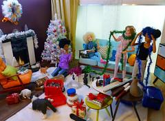 It's beginning to look... (dollyfan1) Tags: barbie doll diorama mattel 6thscale 16 xmas christmas hybrid mtm fashionista
