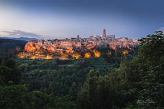 Tuscan dreamscene (Martin Zurek) Tags: pitigliano grosseto italien italy trees town sunset italia maremma tuscany toskana 5d canon