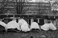 """Ghost Children Place 26"" (TBWLC Photography) Tags: fdrouet tbwlc nb bw monochrome street campdemigrants migrantcamp refugees réfugiés nikon d610 aubervilliers"