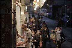 """""""Questionable Hygiene Standards"""" Sai Ying Pun, Hong Kong, China (December 2019) (Kommie) Tags: sai ying pun hong kong china butcher cigarette street night low light photography bokeh candid portrait fujifilm xt3 fujinon 56mm f12 r"""
