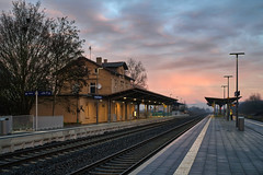 Friday morning (Parchman Kid (Jerry)) Tags: gensingen bahnhof friday morning train station sunrise daybreak sky commuter tracks sony a6500 parchmankid jerry burchfield gensingenhorrweiler horrweiler landscape ilce6500