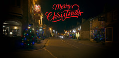 Merry Christmas (l4ts) Tags: landscape derbyshire peakdistrict whitepeak hopevalley castleton christmas christmaslights trees longexposure merrychristmas