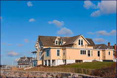Seaside (the summer cottage) (Timothy Valentine) Tags: 1219 large house sky friday 2019 fence westerly rhodeisland unitedstatesofamerica