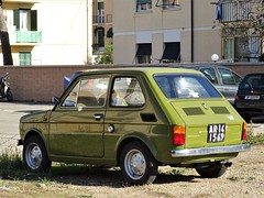 1973 Fiat 126 (Alessio3373) Tags: auto cars oldcars classiccars worldcars autoshite youngtimers 1973 fiat fiat126 targhenere blackplates italian vehicle register dvla