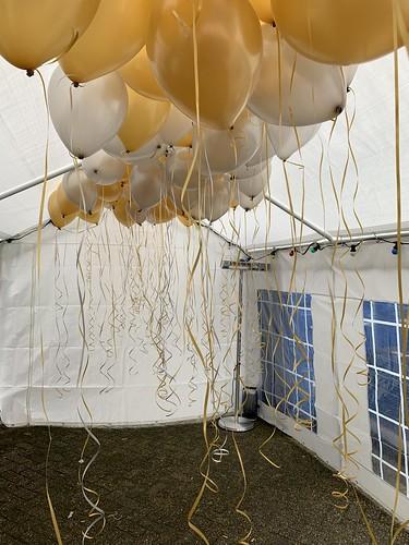 Heliumballonnen Goud en Wit Netinstall Kethelvaart Schiedam