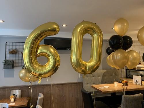 Folieballon Cijfer 60 Bonheur by Lust Barendrecht