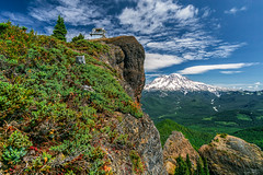 High Atop the Rock (PNW-Photography) Tags: mtrainier hike hiking mountains mountain giffordpinchot giffordpinchotnationalforest trail pacificnorthwest northwest outdoors sky clouds landscape