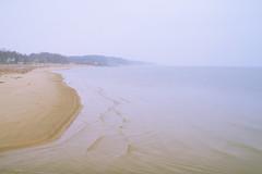 025243a  Calm, Cold, & Cloudy (David G. Hoffman) Tags: lake lakeshore lakemichigan beach vanishingpoint calm