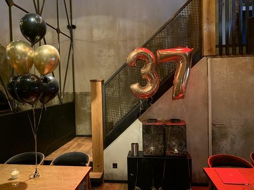 Folieballon Cijfer 37 Cafe in the City Rotterdam