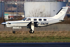 2-SNOW (GH@BHD) Tags: 2snow piper pa46 pa46350p malibu malibumirage piperpa46350pmalibumirage jetpropdlx belfastcityairport bhd egac aircraft aviation airliner turboprop bizprop corporate executive