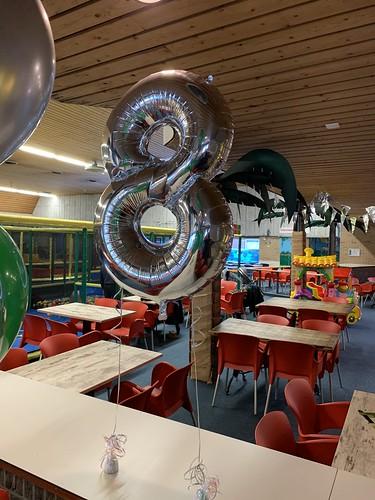 Folieballon Cijfer 8 Speeltuin Vereniging Crooswijk Rotterdam