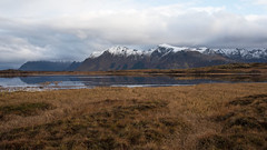 Across the Bay D75_0996 (iloleo) Tags: nature norway landscape mountains fall grasses northsea lofoten clouds snow scenic nikon d750 marsh