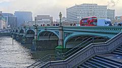 Bridge (Croydon Clicker) Tags: london westminster bridge crossing river thames steps bus people lamps rails nikond700 nikkoraf28105mmd