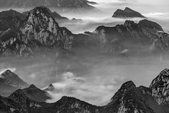 *Hua Mountains @ hills of fog and clouds II* (Albert Wirtz @ Landscape and Nature Photography) Tags: hua mountain huamountains china blackandwhite schwarzweis bw monotone monoton nikon d810 fineart landscapefineart fineartphotography fog cloud wolke nebel nebbia laniebla brume bruma brouillard mist foggy misty mystical blackwhite huashanmountainrange huashan heiligeberge holymountains nature natura natur naturaleza landscape paesaggio paysage paisaje campo campagne campagna asia asien berg wald forst forest