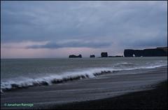 Reynisfjara or Black Sand beach (geospace) Tags: iceland blacksand seastack