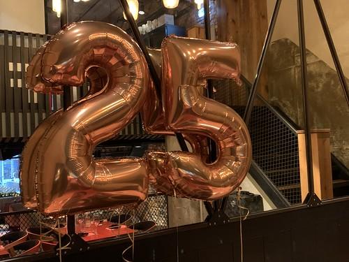Folieballon Cijfer 25 Cafe in the City Rotterdam