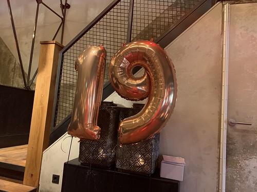 Folieballon Cijfer 19 Cafe in the City Rotterdam
