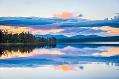 Nordic lake (ikkasj) Tags: jerisjärvi muonio finland nature lake water blue summer evening 24hsunlight clouds