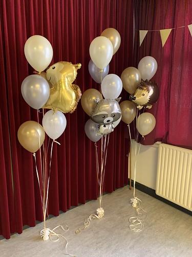 Gronddecoratie 6ballonnen Kerkgenootschap CEME Den Haag