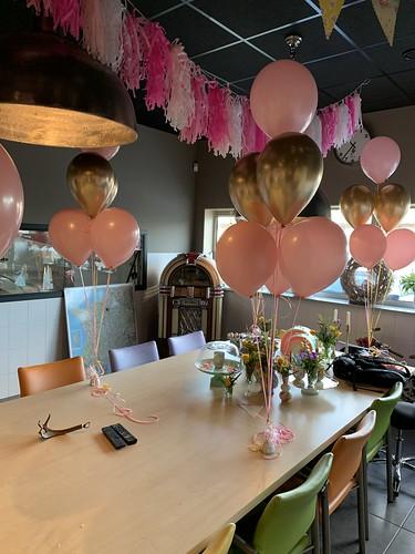 Tafeldecoratie 6ballonnen Stormpolder Capelle aan den IJssel