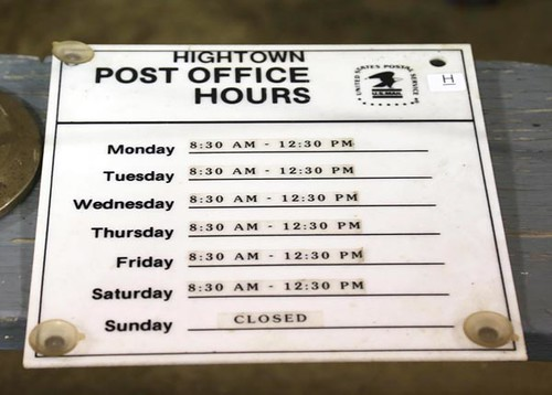 Hightown Post Office Hours sign ($336.00)