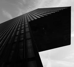 Alien (frankdorgathen) Tags: city urban blackandwhite building monochrome architecture hotel perspective wideangle architektur schwarzweiss düsseldorf gebäude perspektive hyattregency medienhafen weitwinkel mediaharbour schwarzweis sony1018mm alpha6000
