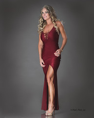 Cocktail Dress (Pixel_Pixie_ca) Tags: loveyandy milf egs sexylegs reddress longdress fitover40 blonde pretty beautiful canon profoto
