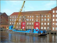 "Crane Barge  ""Jade Lift"" (** Janets Photos **) Tags: uk hull eastyorkshire rivers oldbuildings cranebarges"