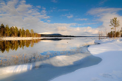 Lanscape in Lapland (ikkasj) Tags: kutuniva lapland finland winter snow nature water lake white blue