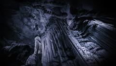 Cave Monochrome (E-C-K ART) Tags: monochrome black white cave stalagmite georgia kutaisi blue mono