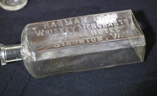 Harman Bros., Staunton whiskey bottle ($84.00)