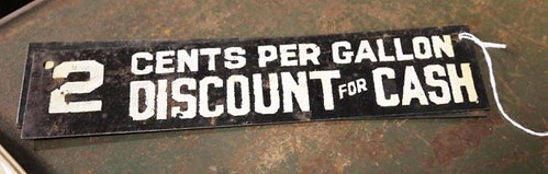 Pair of Gasoline Discount signs ($168.00)