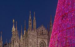 Il Duomo e l'albero (Fil.ippo) Tags: duomo cattedrale milano milan christmas xmas christmastree alberodinatale filippo orablu bluehour filippobianchi fuji xt2 natale gothic light