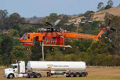 Erickson Air-Crane Sikorsky S-64F Skycrane N247AC (Mark Harris photography) Tags: helicopter tanker skycrane rotor firefighting bushfire canon