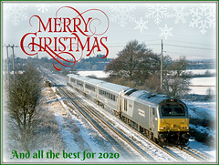 Christmas 2019 (Jason 87030) Tags: christmas tren train silver wsmr salop snow uffington chrimbi seasosn greetings happy merry wishes seasons season flakes winter wintry weather scene class67 skip 67015 wrexham railway card year 2019 best 2020 frame border trees tracks transport festive chrimbo diesel loco engine locomotive gm flickr tag friends shot art creative fun holiday break message red green shropshire xmas 2010