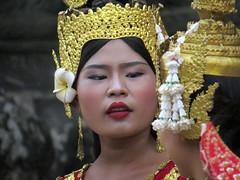 Beautiful Apsara dancers, Angkor World Heritage Site, Siem Reap, Cambodia (Judith B. Gandy (on and off, off and on)) Tags: angkorworldheritagesite apsaradancer asuradancers siemreap cambodia dancers khmer people woman