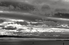 Shortest day (L@nce (ランス)) Tags: sky skyscape cloud clouds cloudy monochrome bw salishsea juandefuca pacific ocean hollandpoint victoria canada nikon