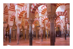 red and white (ibarenogaray) Tags: córdoba andalucía mezquita interior columnas templo