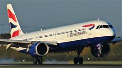 G-NEOR (AnDyMHoLdEn) Tags: britishairways a321 neo oneworld egcc airport manchester manchesterairport 05r