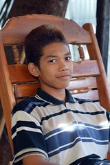 young man in a chair (the foreign photographer - ฝรั่งถ่) Tags: young man boy chair khlong thanon portraits bangkhen bangkok thailand nikon d3200
