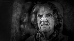 Jagged Edge (JDS Fine Art Photography) Tags: old woman oldwoman intensity emotion dramatic grim bw monochrome cinematic shadows dark bestportraitsaoi