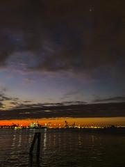 Penns Landing Sunrise (dweible1109) Tags: scenic landscape iphone cellphonephoto cloudscape clouds skyscape skyline sky sunrise delawareriver pennsylvania philadelphia pennslanding