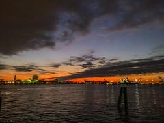 Penns Landing Sunrise (dweible1109) Tags: cellphonephoto iphone scenic landscape skyscape skyline sky cloudscape clouds magichour sunrise delawareriver pennsylvania philadelphia pennslanding