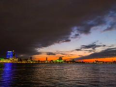 Penns Landing Sunrise (dweible1109) Tags: cellphonephoto iphone cloudscape clouds skyscape skyline sky magichour sunrise delawareriver pennsylvania philadelphia pennslanding