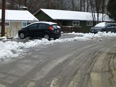 Miniature berm 30 feet from my driveway ha ha (arrowlakelass) Tags: snow heavy wet p1260053