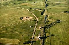 Horizon (TigerPal) Tags: sask saskatchewan prairie plains aerial horizon village ghosttown elevator rural decay ruraldecay birdseye abandoned forgotten railroad goldenhour cessna green