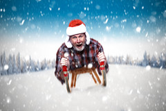 """""""Well, this was easier 'sled' than done."""" {explore} (MrPessimist) Tags: photoshop composite funny strobist alienbee paulcbuff nikon sledding sled background beauty blue branch cold field forest frost frozen ice landscape meadow nature photomanipulation rural scene season self selfportrait sky snow snowy tracks tree white winter"""